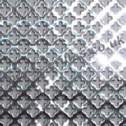 Small Clubs 6mm - Polished Stainless Steel Decorative Grille, Sheet = 1000mm x 660mm x 1mm